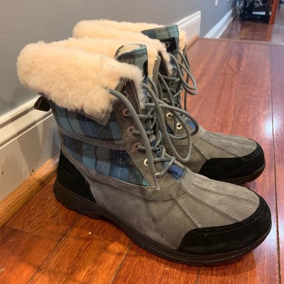 bb0189b4ac1 UGG Butte Vibram Blue Surf Plaid Boots NEW